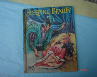 Sleeping Beauty retold by Evelyn Andreas and Pictures by Ruth Ives - Wonder Book -1956