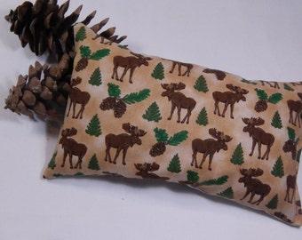 Balsam Cedar Sachet,  Balsam Fir Pillow,  Red Cedar Moose Pillow, Handmade Sachet, Made in Maine USA