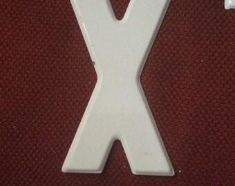 Vintage Metal Marquee Letter X