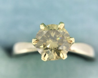 Crown of Gold Yellow Diamond Ring