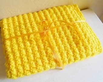 Sunshine YelloHand Crochet Doll And Baby Blanket
