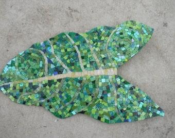 leaf handmade mosaic