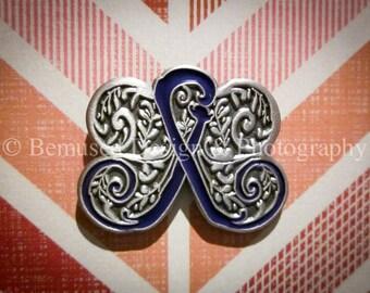 Sale - Lot of 10 Filigree Butterfly Purple Ribbon Lapel Pins