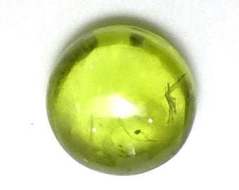Peridot Cabochon 6mm Round Loose Gemstone Hand Cut Gem Stone AAA Grade Acid Apple Granny Green August Birthstone Stacking Rings Ring ONE