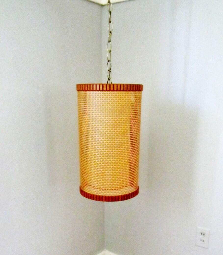 Mid Century Danish Modern Swag Lamp