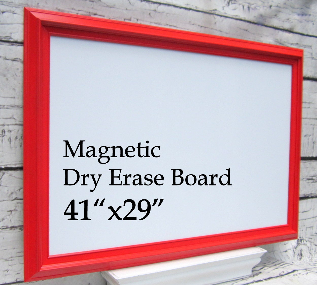 Magnetic craft board - Magnetic Dry Erase Board For Sale Kids Playroom Decor Organization Board 41 X29 Red
