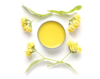 Faerie Balm - Linden Beauty Balm - organic moisturizing salve made with infused flowers- 1/2 oz tin