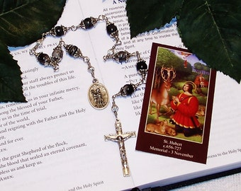 Unbreakable Chaplet of St. Hubert of Liege - Patron Saint of Hunters,  Machinists and Bloodhounds