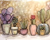 Original Watercolor Painting  - Hot New Friends