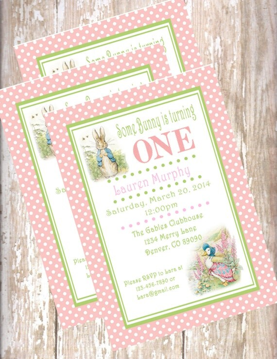 Peter Rabbit Birthday Invitations is the best ideas you have to choose for invitation example