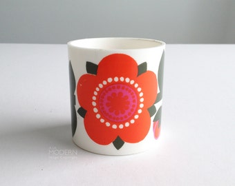 Laurids Lonborg Denmark Floral Design Plastic Cup Canister