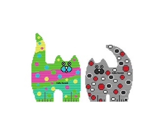 Spot and Dot Cat Wall Hangings PDF Instant Download