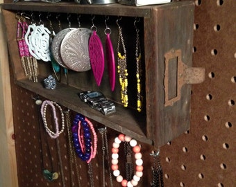 Upcycled Jewelry Organizing Display (Wood Library Card Catalog)