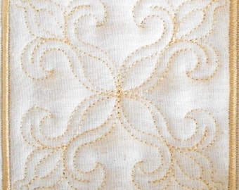 Trapunto Quilt Block Machine Embroidery Design- block06