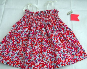 Baby smock dress Liberty Wiltshire Berry