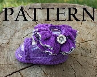 Baby Ruffle Ankle Strap Sandal Crochet Pattern - PDF