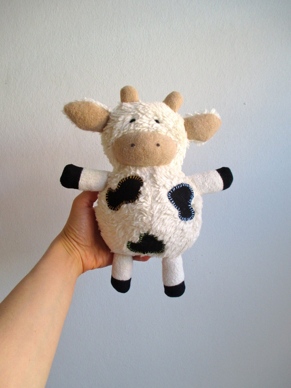 Small Toy Cows : Organic cow toy plush stuffed animal cuddly soft