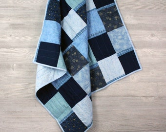Country Boy, Baby Quilt, Blue quilt, Checkerboard blanket, Baby Boy Quilt, Baby shower gift, Country Girl, Girl quilt, baby blanket, crib,