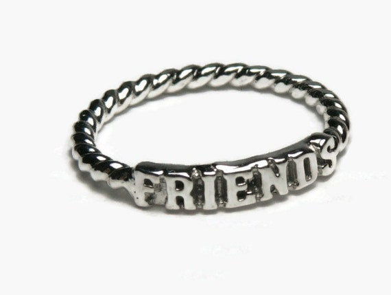 best friend ring sterling silver ring friendship ring best