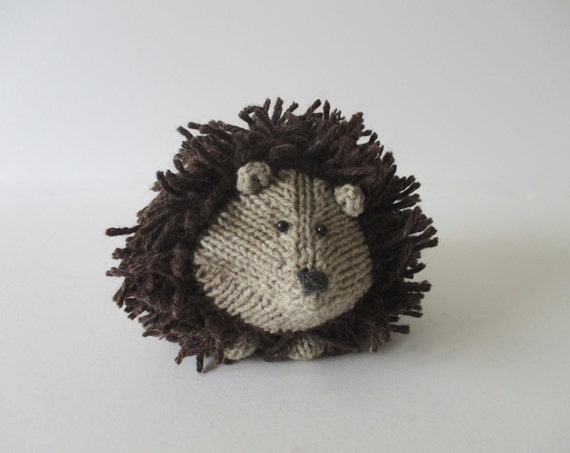 Tweedy Hedgehog toy knitting patterns from fluffandfuzz on ...