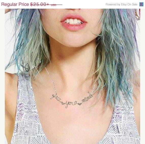 Free Your Mind Necklace - Hippie Jewelry - Bob Marley Lyrics
