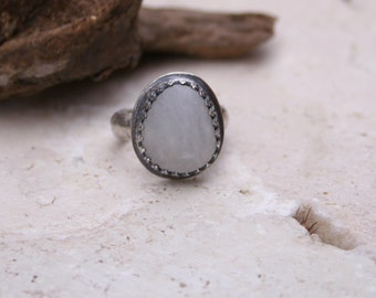 Custom Example of Beach Stone Boho Sterling Silver Ring