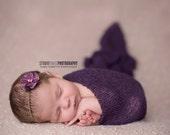 Purple Stretch Knit Wrap Newborn Photography Prop
