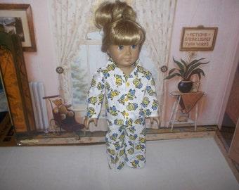 "Minions doll pajamas   fits 18"" American Girl Dolls"