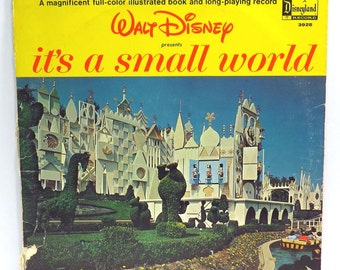 It's a Small World #2 Album Cover Purse Custom Made Vintage Record Purse Walt Disney LP Album Handbag Tote