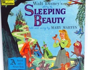Sleeping Beauty Album Cover Purse Custom Made Vintage Record Purse Walt Disney LP Album Handbag Tote