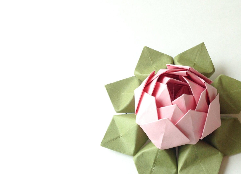 papier fleur fleur de lotus la main origami cadeau. Black Bedroom Furniture Sets. Home Design Ideas