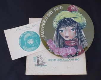 Seven Seas Traders 1970 Mothers Day Plate First Limited Edition //500