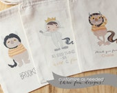 WILD Monster THINGS -  Personalized Favor Bags - Set of 10 - Birthday - Wild RUMPUS