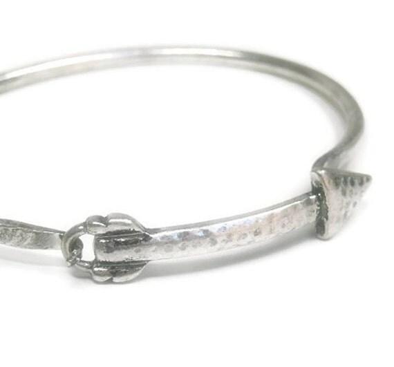 arrow bangle bracelet rustic arrow bracelet arrow by epicetera