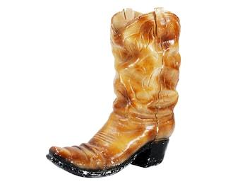 vintage XL handmade ceramic cowboy boot