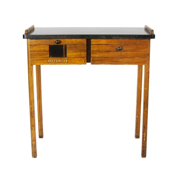vintage 1930s paidar barber shop sterilizer table by
