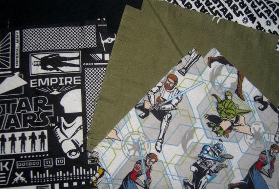 Man Cave Quilt Kit : Flannel rag quilt kit star wars fringed die by
