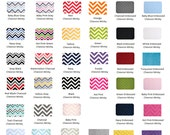 CHEVRON Minky Changing Pad Cover- CHOOSE from Over 35 Colors- Ready to Ship