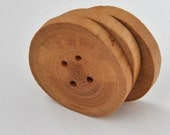 tree branch buttons  • 3 large white birch wooden buttons •   handcrafted  wood buttons