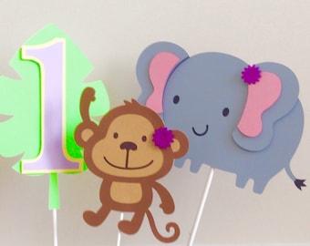 5  piece Jungle/Safari centerpiece -- Jungle theme Birthday