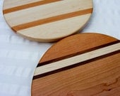 Signature Stripe Lazy Susan 12 Inch Maple or Cherry Appalachian Hardwoods. Unique. Free Shipping