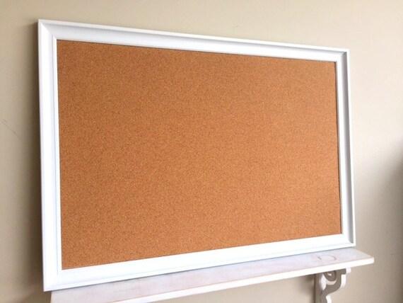 Cork board modern white home office organizer by shugabeelane for Modern bulletin board