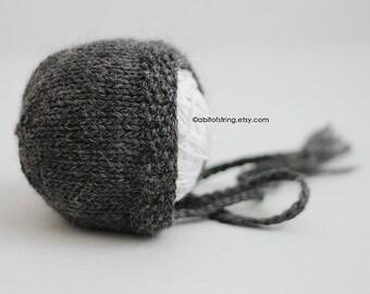 Dark Gray Classic Newborn Bonnet
