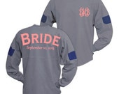 Wedding Oversized jersey for the Bride Bridesmaid Maid of Honor