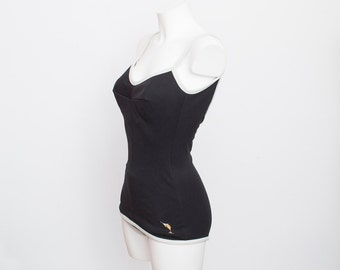 NOS Vintage swimsuit Size S back and white