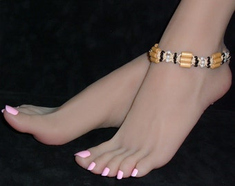 Hemp Anklet Wood