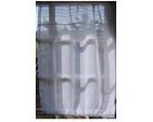 Sheer Linen Window Panel, Kitchen Cupboard Door Curtain, French Linen Cabinet Curtain, Paris Kitchen, Window Sidelight Curtain