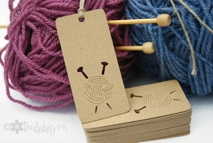 Knitting Labels Canada : X kraft knitting tags labels craft crafting gift