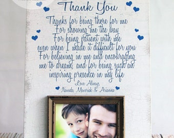 Dad Thank You Picture Frame, Dad Frame, Father's Day Gift, Father's Day Picture Frame