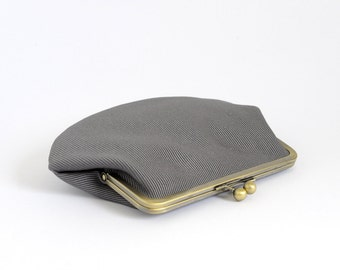 clutch purse. clutch bag. kisslock purse. metal frame purse. choose your own. yellow. turquoise. grey and black.